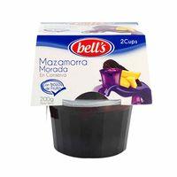 mazamorra-bells-morada-con-trozos-de-fruta-en-conserva-2-pack-100gr