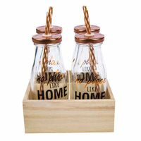 set-deco-home-4-botellas-con-caña-base-madera