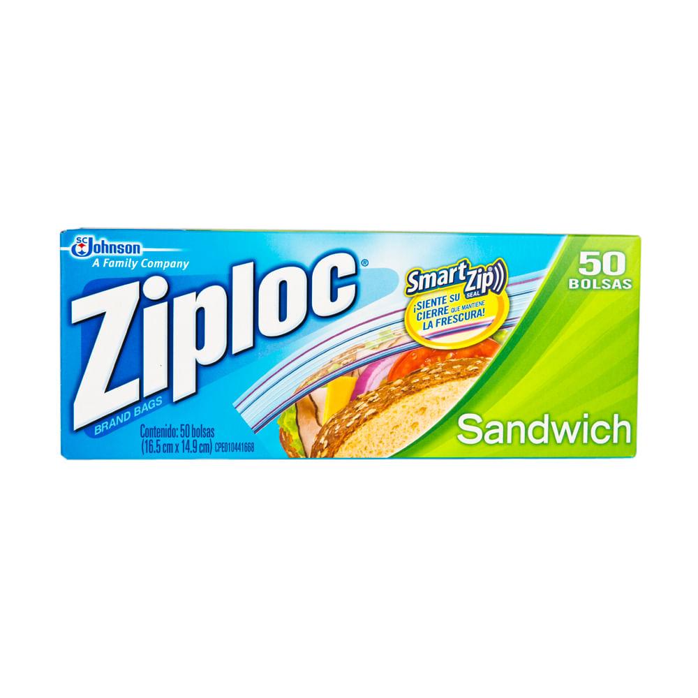 804aabdfc Bolsas conservadoras ZIPLOC Para sandwich Paquete 50Un - Vivanda