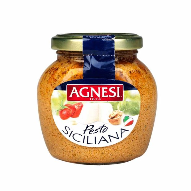 salsa-agnesi-pesto-a-la-siciliana-frasco-350-ml
