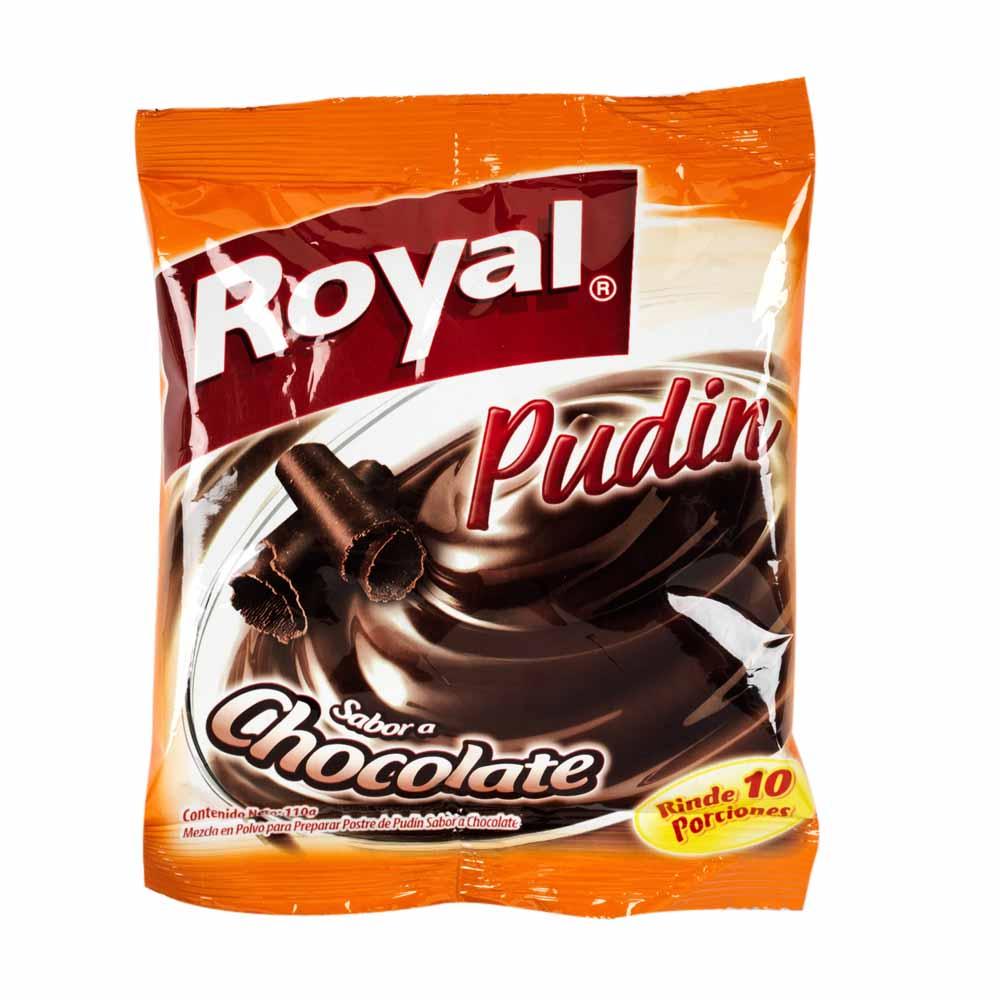 En Sabor Mezcla Pudín Chocolate 110gr A Bolsa Polvo Royal UVpSzM
