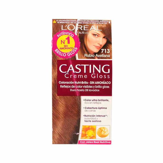 professional sale hot sale look out for Tinte para mujer L'ORÉAL Casting creme gloss 713 rubio avellana Caja 1Un