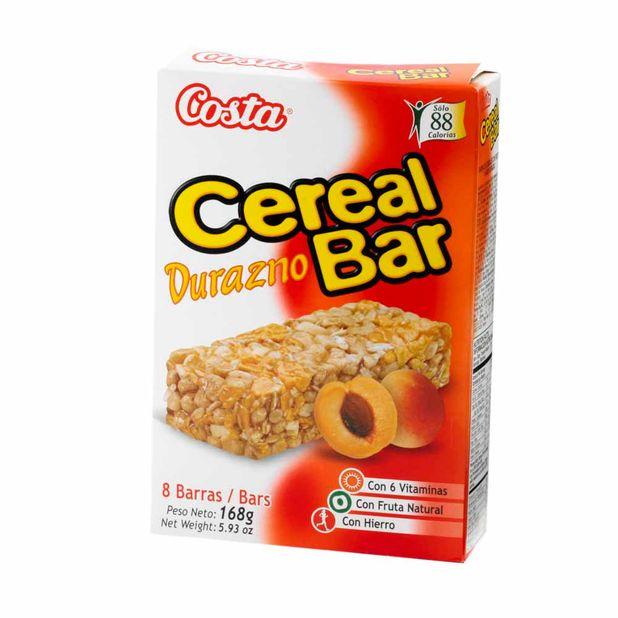 cereal-costa-cereal-bar-durazno-caja-168gr