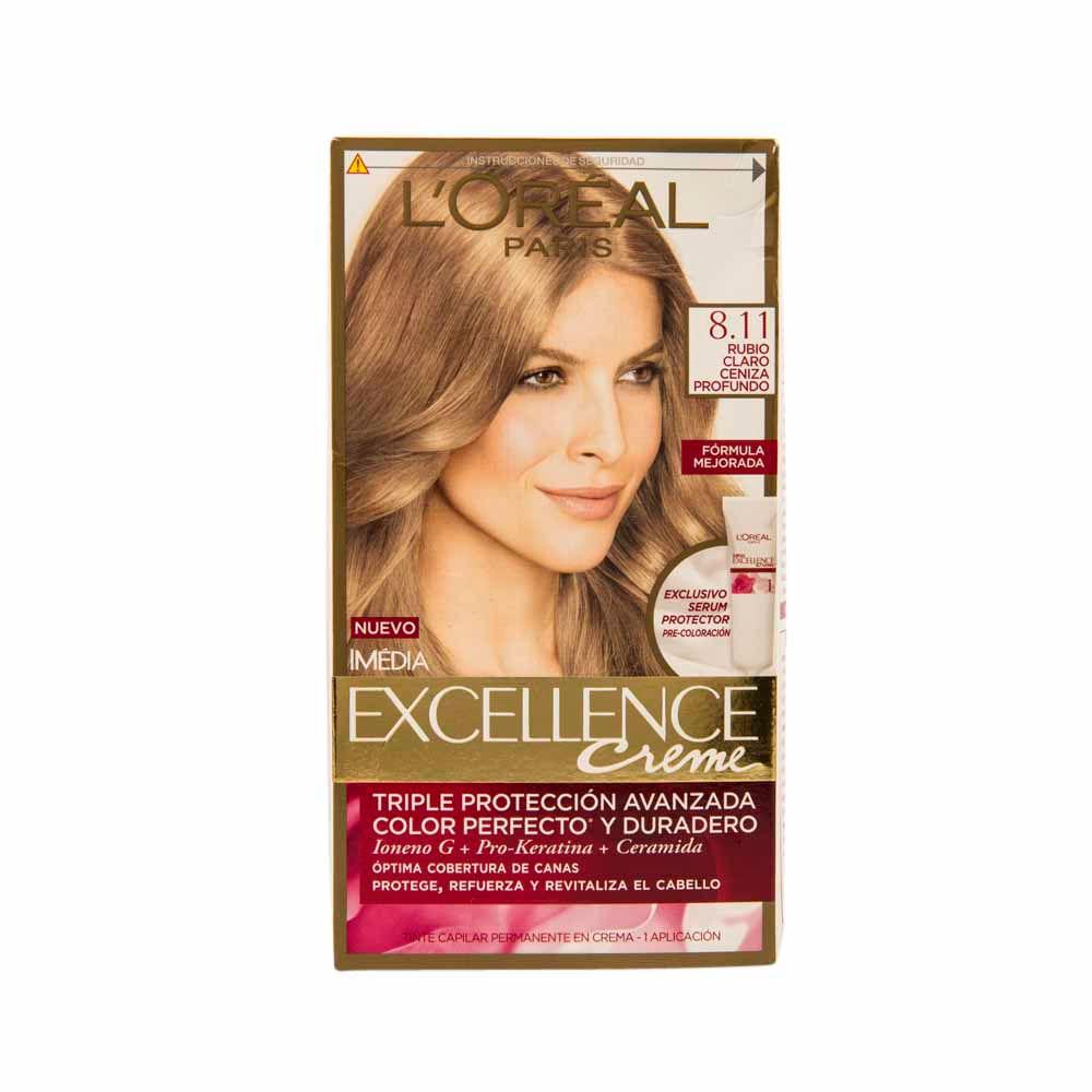 Tinte para mujer orÉal excellence rubio claro cenizo caja jpg 1000x1000 Cenizo  tintes de cabello beige 87e403fb1ab2
