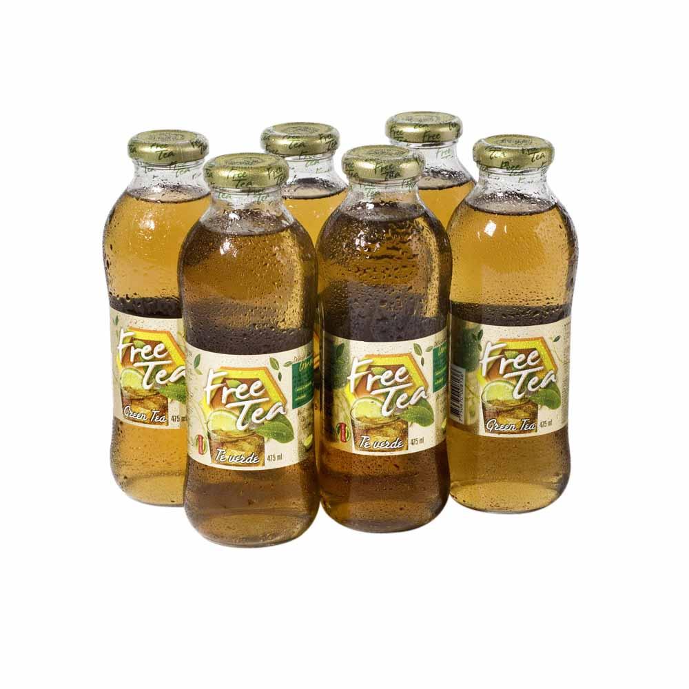 te líquido free tea limón botella 450ml paquete 6un vivanda