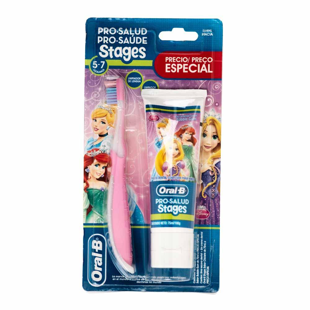 Crema dental ORAL-B Stages Princess + Cepillo suave - Vivanda 7e4ba17771af