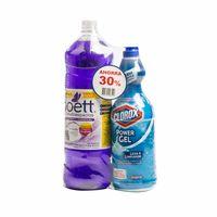 limpiador-liquido-multiuso-poett-lavanda-botella-1-8l-gel-clorox-original-botella-930ml