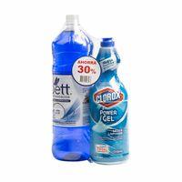 limpiador-liquido-multiuso-poett-solo-para-ti-botella-1-8l-gel-clorox-original-botella-930ml