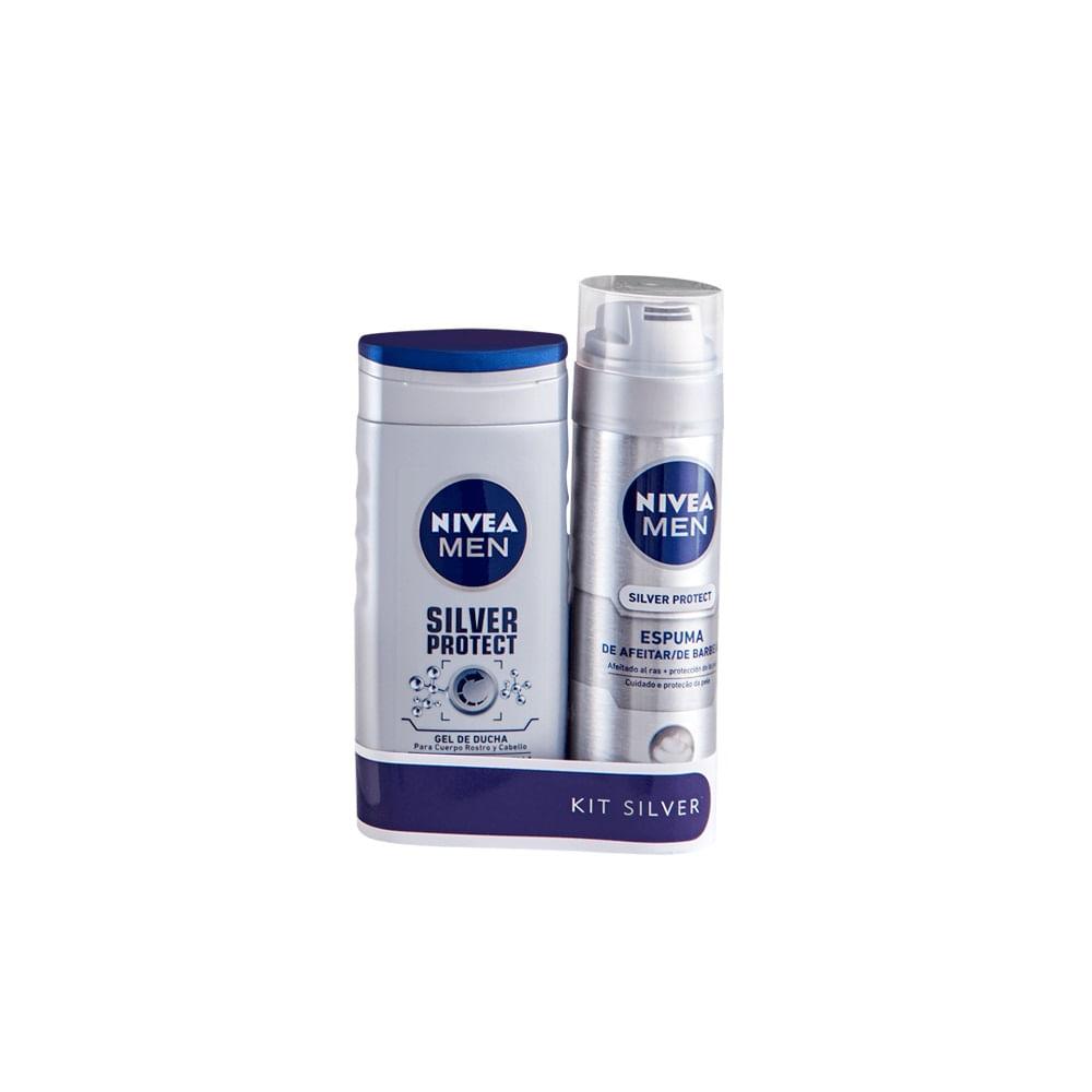 Estuche de Regalo NIVEA Espuma de Afeitar Silver Protect + Gel de ... 57aec31be579
