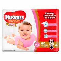 panal-para-bebe-huggies-hiper-natural-care-nina-talla-m-paquete-60un