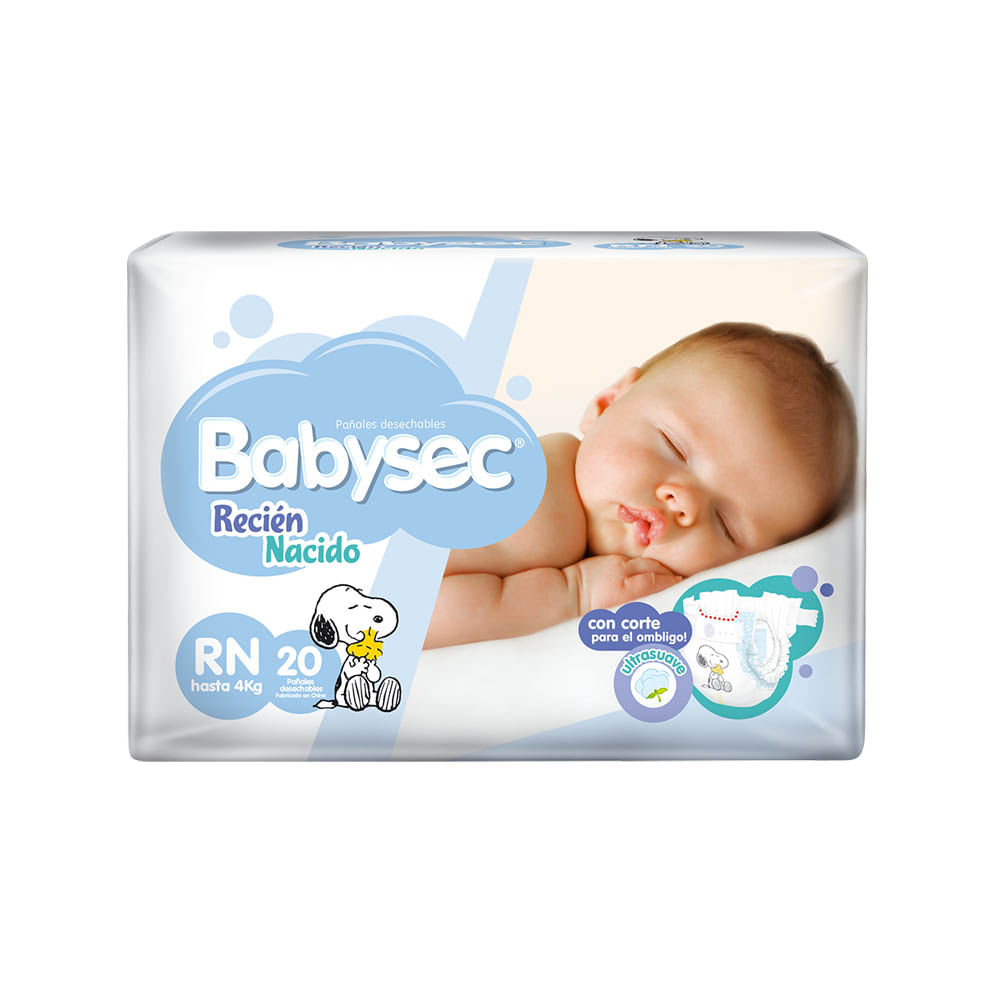 Paquetes Para Bebes Recien Nacidos.Panal Para Bebe Babysec Recien Nacido Paquete 20un