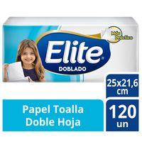 papel-toalla-doblado-elite-doble-hoja-paquete-120un