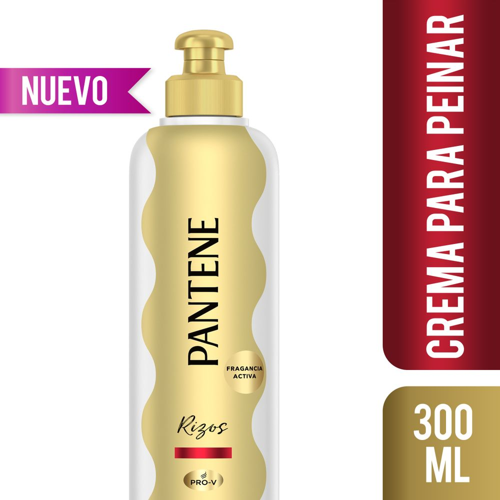 Crema Para Peinar Pantene Pro V Rizos Definidos Frasco 300ml