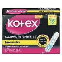 tampon-digital-kotex-flujo-medio-caja-12un