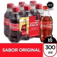 gaseosa-coca-cola-botella-300ml-paquete-6-un