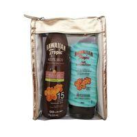 set-hawaiian-tropic-bloqueador-de-argan-locion-silk